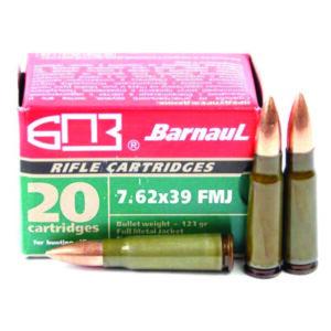 Amunicja BARNAUL  kal. 7.62x39mm FMJ