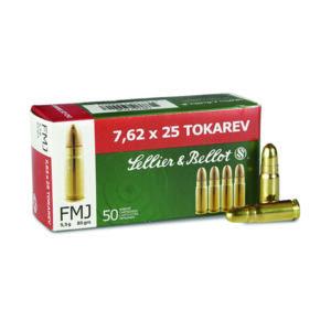 Amunicja S&B kal. 7,62×25 TOKAREV FMJ 5,5g