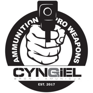 Naklejka CYNGIEL Broń i Amunicja (195x170mm)