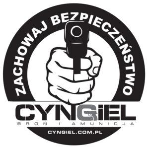 Naklejka CYNGIEL Zachowaj Bezpieczeństwo (92x92mm)