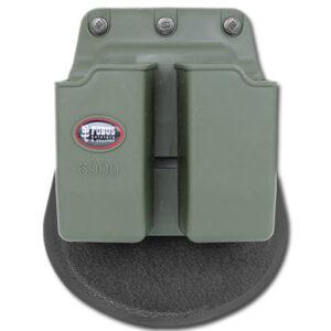 Fobus – Ładownica na 2 magazynki 9mm – Glock, USP – Zielony – 6900G