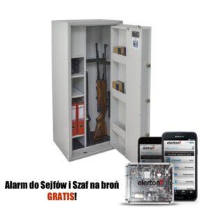 Szafa na broń GG 6 OPTIC Z PRZEGRODĄ PRAKTIKER (JASNOSZARA) (Zamek Elektroniczny) ELERTON GRATIS !!
