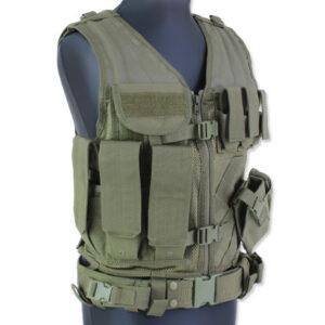 Condor – Kamizelka Taktyczna Crossdraw Vest – Zielony OD – CV-001