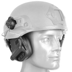 Earmor – Aktywne ochronniki słuchu M31H do hełmów – Czarny