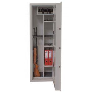 Szafa na broń GG 13 OPTIC  PRAKTIKER+ ( KOLOR SZARY) (Zamek Elektroniczny)