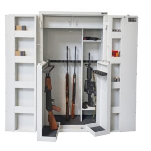 Szafa na broń GG 25 OPTIC MULTI PRAKTIKER ( KOLOR CZARNO/SZARY- szare drzwi)(Zamek Elektroniczny)