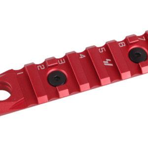 Strike Industries – Szyna LINK KeyMod & M-Lok Rail 7 Slots QD Czerwony