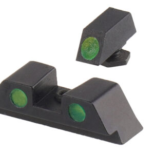 GunPany – Fiber Sights Combo do Glock – Krótkie – Zielona – SCIS-06