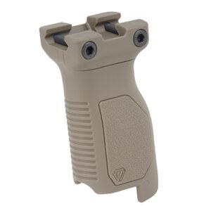 Strike Industries – Angled Vertical Grip – Long -SI-AR-CMAG-RAIL-L-FDE